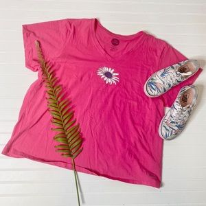 Life Is Good Daisy Crusher Classic Fit Tee